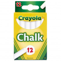 BIN320 - 12 Sticks - Tuck Box White Chalk in Chalk