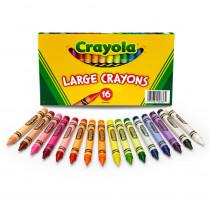 BIN336 - Crayola Large Size Crayon 16Pk in Crayons