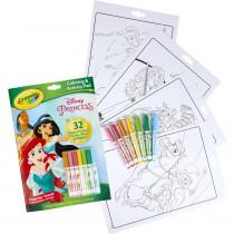 Coloring & Activity Pad with Markers, Disney Princess - BIN45807 | Crayola Llc | Art Activity Books