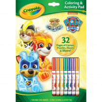 Coloring & Activity Pad with Markers, Paw Patrol - BIN46918 | Crayola Llc | Art Activity Books