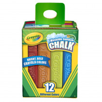BIN512012 - Crayola Washable Sidewalk Chalk 12 Ct in Chalk