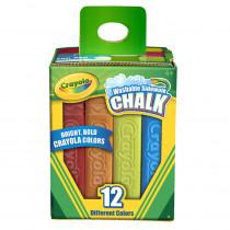 BIN512012 - Crayola Washable Sidewalk Chalk 12 Ct in Chalk