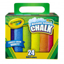 BIN512024 - Crayola Washable Sidewalk Chalk 24 Ct in Chalk