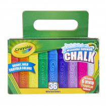 Washable Sidewalk Chalk, Pack of 36 - BIN512036 | Crayola Llc | Chalk