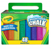 BIN512048 - Crayola Washable Sidewalk Chalk 48 Ct in Chalk
