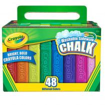 BIN512048 - Crayola Washable Sidewalk Chalk 48 Ct in Chalk