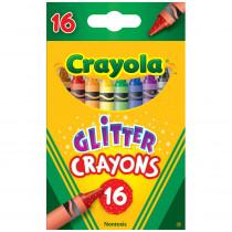 BIN523716 - Crayola Glitter Crayons 16 Crayons in Crayons