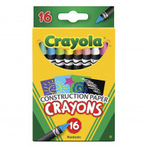 BIN525817 - Crayola 16 Ct Crayons For Construction Paper in Crayons