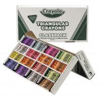 BIN528039 - Crayola Crayon Classpack Triangular 16 Colors 256 Crayons in Crayons