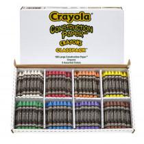 BIN528059 - Crayola Construction Paper Crayons Class Pk in Crayons