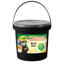 BIN571351 - 1 Lb Bucket Modeling Clay Black in Clay & Clay Tools