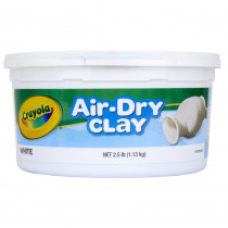 BIN575050 - Crayola Air Dry Clay 2.5 Lbs White in Clay & Clay Tools