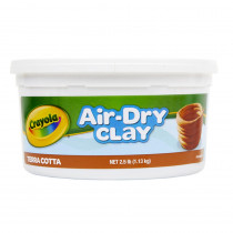 BIN575064 - Crayola Air Dry Clay 2 1/2Lb Terra Cotta in Clay & Clay Tools
