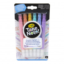 Take Note! Erasable Highlighters, Pastel Party, Pack of 6 - BIN586556 | Crayola Llc | Highlighters