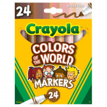 Colors of the World Markers, 24 Colors - BIN587802 | Crayola Llc | Markers