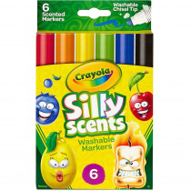 BIN588197 - Crayola Silly Scent 6Pk Chisel Tip Washable Marker in Markers