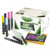 BIN588212 - Crayola Gel Fx Markers 80Ct 8 Color Classpack in Markers