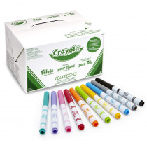 BIN588215 - Crayola Fabric Marker 80Ct 10 Color Classpack in Markers