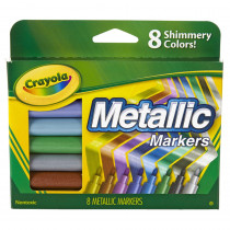 BIN588628 - Crayola Metallic Markers 8 Colors in Markers