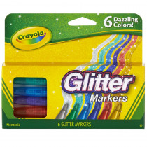 BIN588629 - Crayola Glitter Markers 6 Colors in Markers