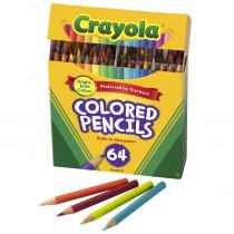 BIN683364 - Crayola Colored Pencils 64 Count Half Length in Colored Pencils