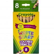 BIN684108 - Crayola Write Start 8 Ct Colored Pencils in Colored Pencils