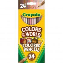 Colors of the World Colored Pencils, 24 Colors - BIN684607 | Crayola Llc | Colored Pencils