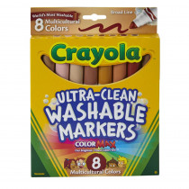 BIN7801 - Multicultural Washable Markers 8Pk Conical Tip in Markers