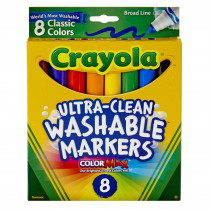 BIN7808 - Washable Coloring Markers 8 Colors in Markers