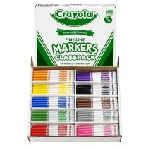 BIN8210 - Crayola Classpack Markers 200 Ct Non Washable Fine Tip in Markers
