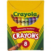 BIN8 - Crayola Regular Size 8 Colors in Crayons