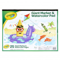 Giant Marker & Watercolor Pad - BIN993411 | Crayola Llc | Sketch Pads