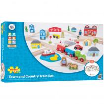 Rail Town & Country Train Set - BJT015 | Bigjigs Toys | Toys