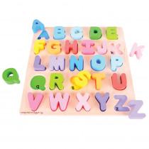 BJTBB055 - Chunky Alphabet Puzzle Uppercase in Alphabet Puzzles