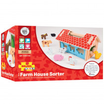 Farm House Sorter - BJTBB108 | Bigjigs Toys | Sorting