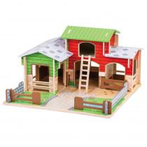 Cobblestone Farm - BJTJT152 | Bigjigs Toys | Toys