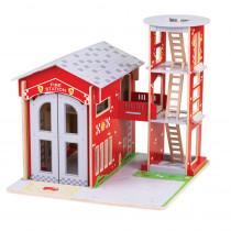 City Fire Station Playset - BJTJT156 | Bigjigs Toys | Toys