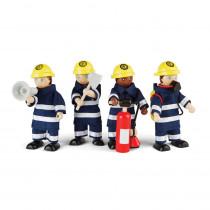 Firefighters Set of 4 - BJTT0117 | Bigjigs Toys | Toys