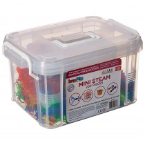 Brackitz Mini STEAM Center, 204-Piece Set - BKZBZ82142 | Building Creative Kids | Blocks & Construction Play