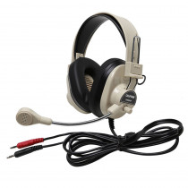 CAF3066AV - Deluxe Multimedia Stereo Headset W/ Boom Microphone W/ Dual 3.5Mm Plug in Headphones