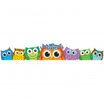 CD-101035 - Colorful Owls Crowns 30Ct in Crowns