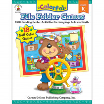 CD-104048 - Colorful File Folder Games Gr K in Skill Builders