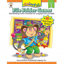 CD-104051 - Colorful File Folder Games Gr 3 in Skill Builders