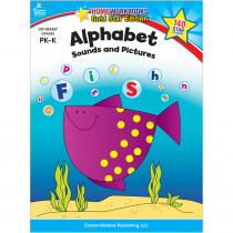 CD-104327 - Alphabet Sounds & Pictures Home Workbook Gr Pk-K in Letter Recognition