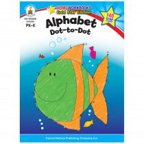 CD-104328 - Alphabet Dot To Dot Home Workbook Gr Pk-K in Letter Recognition