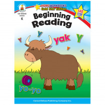 CD-104342 - Beginning Reading Home Workbook Gr K in Reading Skills