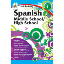 CD-104411 - Skill Builders Spanish Level 1 Gr 6-8 in Foreign Language