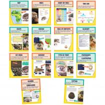 Mini Posters: Nonfiction Text Features Poster Set, Grade 1-6, 14 Pieces - CD-106011 | Carson Dellosa Education | Language Arts