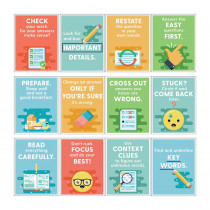 Mini Posters: Test-Taking Strategies Poster Set, Grade 2-6, 12 Pieces - CD-106013 | Carson Dellosa Education | Classroom Theme