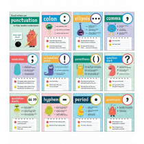 Punctuation Mini Posters, Set of 12 - CD-106037 | Carson Dellosa Education | Language Arts